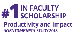 Fact Fact: #1 Faculty Scholarship, (Scientometrics Impact And Productivity Study 2018)